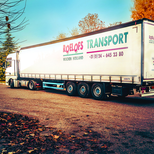 Logo Mega trailers groot transport.